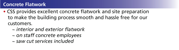 concrete flatwork info
